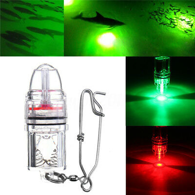Deep Drop Underwater LED Fishing Lure Light Red/Green 2100ft Submersible DC 3V