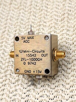 Mini-Circuits Variable Gain Rf Amplifier, Model Zfl-1000Gh, Vgc!