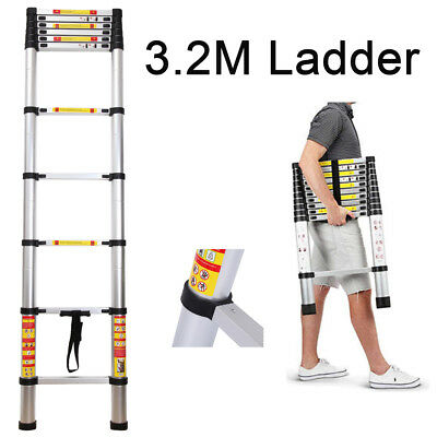 3.2M Multi-Purpose Aluminium Telescopic Ladder Extension Extendable Power Steps