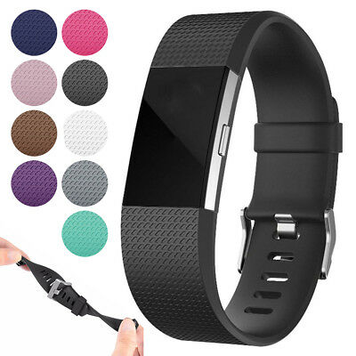 For Fitbit Charge 2 Replacement Silicone Wrist Band Smart Watch Bracelet Strap