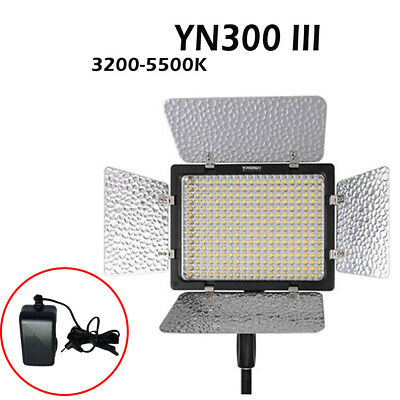 Yongnuo YN300 III Pro 3200-5500K LED Video Studio Light Lamp with Charger AU