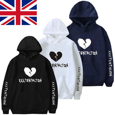 UK REVENGE 'KILL' HOODIE-MENS Broken Heart Print-XXXTentacion Bad Vibes Forever