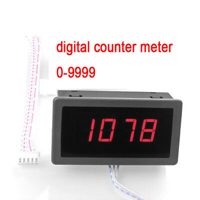 Intelligent digital display counter electronic counter 0-9999 panel meter 12v 24