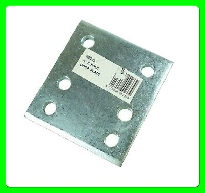 "* Pack of 2  * 4"" Tow Ball Drop Plate with 6 Holes [MP233] Zinc Plated"