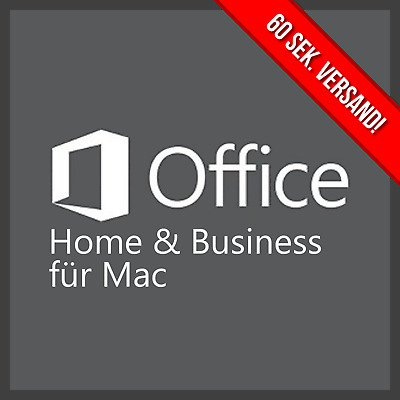 Microsoft Office 2016 Home and Business MAC   Neu   inkl. Word Excel usw.