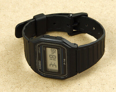 Casio F-14 Vintage Watch 34x32mm NEW OLD STOCK WITH OILY BACK