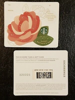 New - 2018 Mother's Day Die Cut Starbucks Gift Card Series 6152 - USA