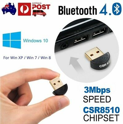 V4.0 Mini USB 2.0 Bluetooth Dongle Wireless Adapter PC Laptop Fast 3Mbps Speed
