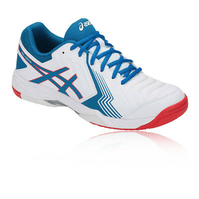 Asics Mens Gel-Game 6 Tennis Shoes Blue White Breathable Lightweight Trainers