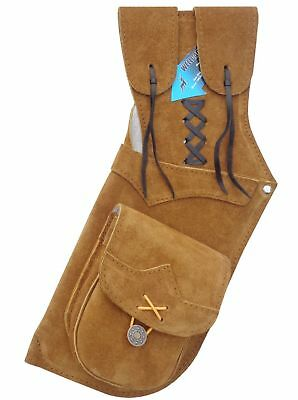 Traditional Archery Suede Leather Side/hip Arrow Quiver Aq112 Left