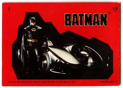 Batman #17 Batman 1989 Topps Sticker C1318