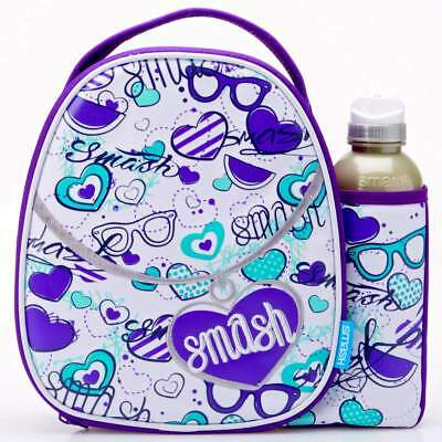 Smash Pendant Lunch Bag/Box and 500ml Bottle Set | Lunchbox for Girls