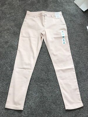M/&s Red High Rise Super Skinny Jeggings  Size 16 Long Bnwt Free Sameday P/&p