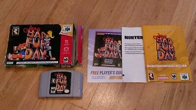 Conker's Bad Fur Day Nintendo 64 N64 Video Game Complete CIB lot CLEAN & TESTED!