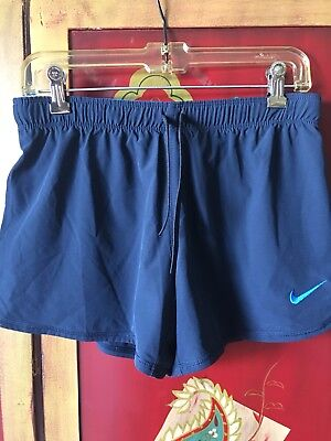 Nike women's shorts Lined Running  JUST DO IT Blue Size Small