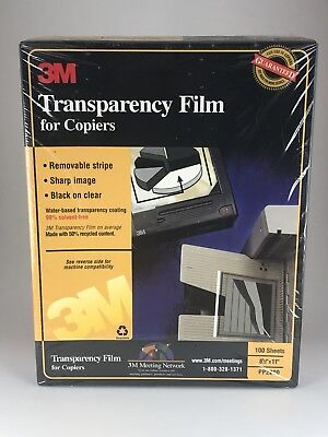 3M TRANSPARENCY FILM for High Temperature Copiers NIB 100 Sheets  PP2950