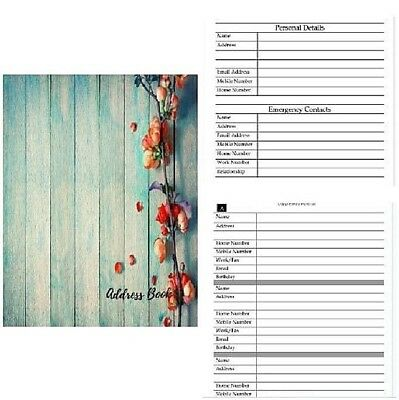 Telephone Address Book Large Print Paperback Journal Notebook Home Office