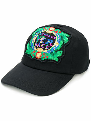 Brand New Men s Versace Embroidered Black New Signature Beverly Palm Hat Cap d6d4a9e2c541