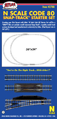 Atlas 2788 N C80 N Scale Snap-Track Starter Expansion Track Set