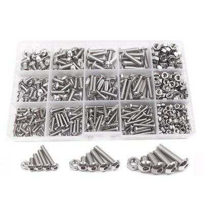 500pcs M3 M4 M5 A2 Stainless Steel ISO7380 Button Head Hex Bolts Hexagon So D6Y4