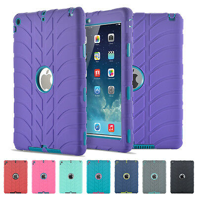 """Hybrid Rugged Defender Shockproof Case Cover For iPad 9.7"""" 2018 6th Generation"""