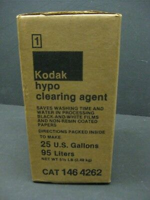 Kodak hypo clearing agent 25 gallon new old stock 146-4262