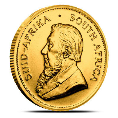 South Africa 1 oz Gold Krugerrand Coin - Random Year (Dates Our Choice) - BU