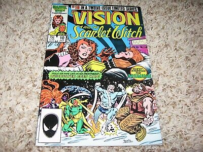 Vision and The Scarlet Witch #10 (Marvel, 1986) – Inhumans, Quicksilver – NM-