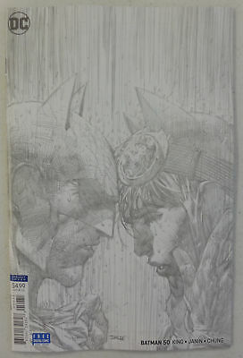BATMAN # 50 Comic 2018 ~ JIM LEE Pencils 1/100 VARIANT ~ NM/UNREAD Wedding Issue