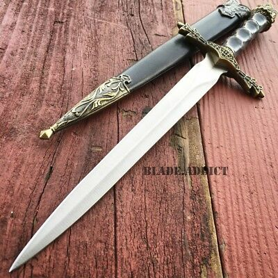 "13.5"" King Arthur Medieval Ornate Fantasy Dagger Short Sword w/ Sheath NEW"