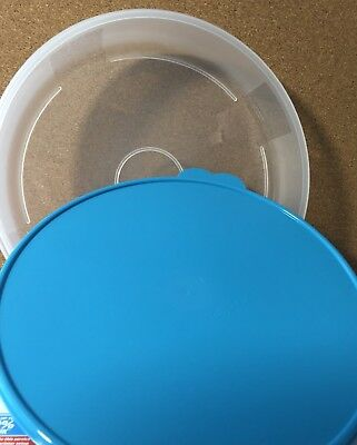 NIP Tupperware Round Pie Pastry Container Cookie Pizza Cupcake BPA Free Shipping