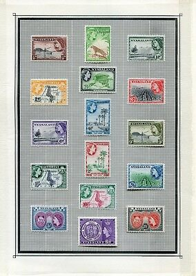 Weeda Nyasaland 51//134 VF MLH/Used 1937-1964 Commonwealth issues CV $167.75