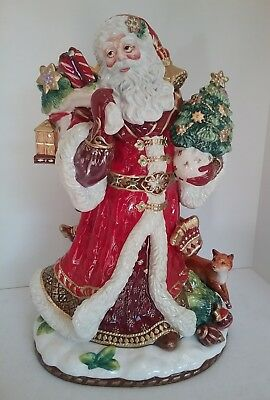 FITZ & FLOYD  Renaissance Holiday, Santa Figurine 49-659 NEW