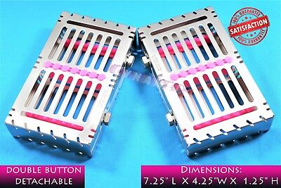 Detachable Sterilization Tray For 7 Instruments German Premium Pink Dental