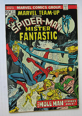 Marvel Team-Up #17 (MCG 1/74) FN/VF to VF- Spider-Man/Mister Fantastic Nice!!