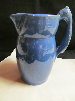 Camark Pottery1929 Parrot Handle Pitcher Blue 1929 Art Deco Rare Antique VTG