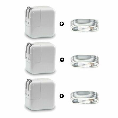 For Apple iPad iPhone 12W USB Power Adapter Wall Charger A1401 (3 PACK) Lot