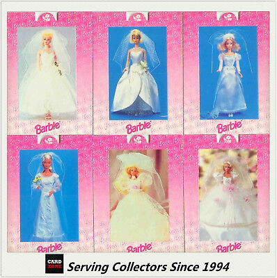 1996 Australia Tempo 36 Years Of Barbie Trading Cards Bride Pop-Up Card Set(6)