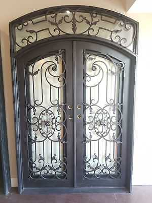Wrought Iron Entry Double Doors