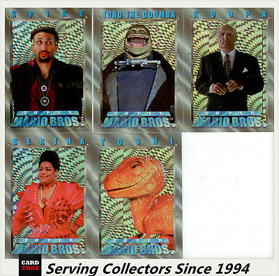Australia Dynamic Super Mario Bros Trading Cards Prism Card Subset Full Set (5)