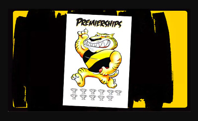 Richmond Tigers Glossy Premiership Years Poster
