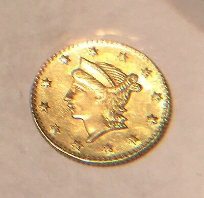 No Date 25C, Quarter (1/4) Dollar California Fractional Gold Coin