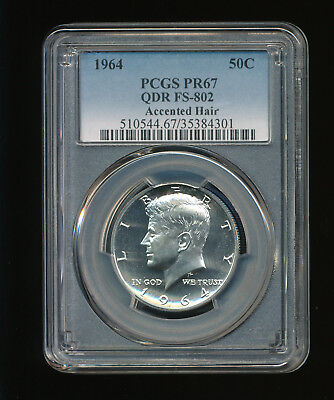 1964 Accented Hair Kennedy Half Dollar PCGS Proof PR 67 QDR FS-802 Type 1 Silver