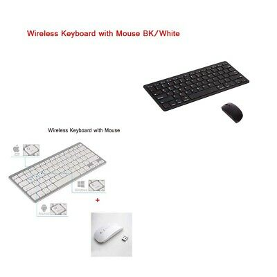Keyboard and Mouse Wireless combo for phones/ laptops/desktop Slim Bluetooth AU