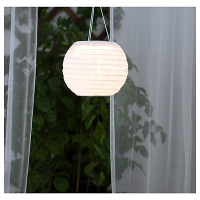 Ikea SOLVINDEN Solar-Powered Pendant Lamp Globe White 9 '' Apartment 203.829.51