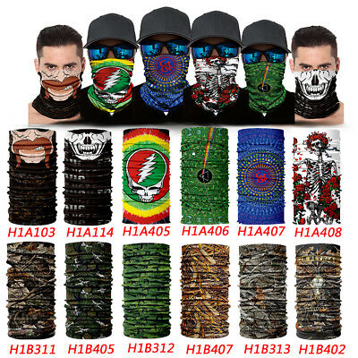 Bandana Face Mask Shield Fishing Skull Camo Headwear Biker Neck Tube HooRag