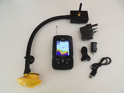 Wireless Colour Bait boat fish finder, over 150m range, easy to attach to boat