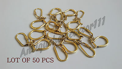 Lot of 50 Pcs Collectible Brass Maritime HANDCUFFS Keyring Nautical Key Chain ..