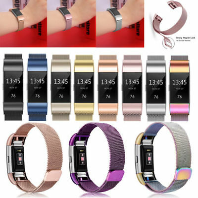 Für Fitbit Charge 2 Armband Edelstahl Ersatz Replacement Strap Fitness Tracker