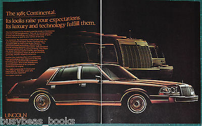 1985 LINCOLN CONTINENTAL 2-page advertisement, Lincoln Continental Givenchy
